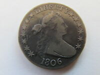 1806 DRAPED BUST HALF DOLLAR FIFTY CENTS EARLY US SILVER 50C COIN
