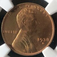 1938-D 1C RD LINCOLN WHEAT ONE CENT  NGC MINT STATE 67RD          5866424-006