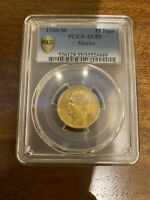 10 PESOS MEXICO 1920 GOLD AU55 ULTRA  ONLY 12 000 MINTED