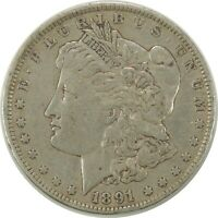 1891-P $1 MORGAN SILVER DOLLAR - VF  CONDITION  091520