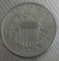 1882 5C SHIELD NICKLE WITHOUT RAYS UNITED STATES CURRENCY BEAUTIFUL COIN