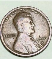 1916-D 1C BN LINCOLN CENT  WHEAT CENT 3020K