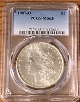 1887 NEW ORLEANS MINT MORGAN SILVER DOLLAR PCGS MINT STATE 63