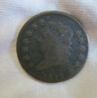 1812 CLASSIC HEAD LARGE CENT 1C COPPER PENNY