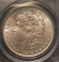 1878- 8TF PCGS MINT STATE 64 MORGAN SILVER DOLLAR PREMIUM QUALITY W/ GREAT LUSTER