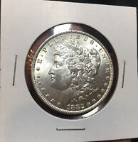 1882 P MORGAN SILVER DOLLAR MS BU UNC LUSTROUS BETTER DATE WHITE COIN