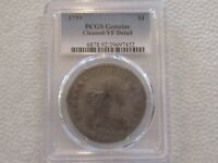 LOT 7W 1799 DRAPED BUST SILVER DOLLAR PCGS GENUINE CLEANED V
