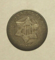 1853 THREE CENT 90 SILVER TRIME