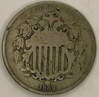 1869 UNITED STATES 5 CENTS COIN