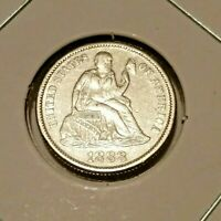 1888 SEATED LIBERTY DIME | UNCIRCULATED DETAILS | AMAZING COIN