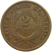 UNITED STATES TWO CENTS 1865 T86 135