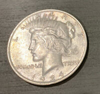 EARLY - 1924 - PEACE SILVER DOLLAR - 90 US COIN