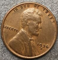 1936 D LINCOLN WHEAT CENT PENNY - HIGHER GRADE  FREE SHIP. B756