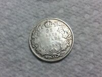 1936 DOT CANADA SILVER 25 CENTS
