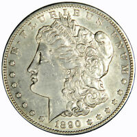 1890-S MORGAN DOLLAR  AU ABOUT UNCIRCULATED INV 807