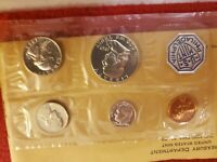 1963 SILVER PROOF MINT SET; HALF QUARTER AND DIME 90  SILVER