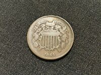 1864 TWO CENT PIECE   2 CENTS
