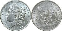 1885 $1 MORGAN SILVER DOLLAR ALMOST UNCIRCULATED DETAILS CLEANED