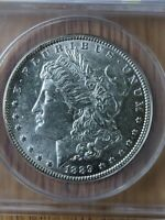 1889 MORGAN DOLLAR VAM-22 BAR WING TOP 100 ANACS GRADED MINT STATE 61  COIN