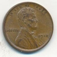 1918 LINCOLN WHEAT CENT-UNCIRCULATED BROWN EARLY WHEAT CENT-SHIPS FREE