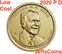 2020 P&D GEORGE H.W. BUSH PRESIDENTIAL GOLDEN DOLLARS PD 2 COINS 20PD LOW COST