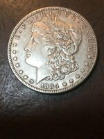 1884-S MORGAN SILVER DOLLAR EXTRA FINE   HARD DATE- SEE MY LISTINGS FOR SILVER DOLLARS