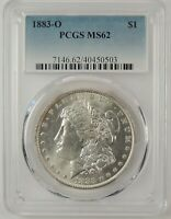 1883-O $1 MORGAN SILVER DOLLAR PCGS MINT STATE 62 40450503  GREAT EYE APPEAL