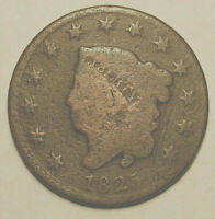 1825 LARGE CENT-CIRCULATED CONDITION