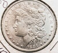 1881O AND 1881S MORGAN DOLLARS - U-GET 2- AU COINS-$2 SHIPPING/TRACKING