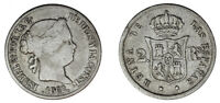2 SILVER REALES ISABELLA II-1 REAL SILVER ISABEL II. MADRID 1862. VF/VF