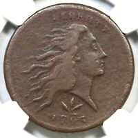 1793 S 9 R 2 NGC VF DETAILS VINE & BARS EDGE WREATH LARGE CENT COIN 1C