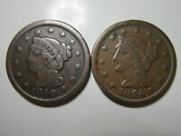 LARGE CENTS 1846  SMALL DATE  & 1848