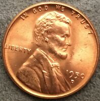 1950 D UNCIRCULATED BU RD RED - LINCOLN WHEAT CENT  E794