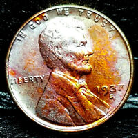 1937 S LINCOLN WHEAT CENT CENT-