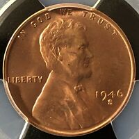 1946-S 1C RD  LINCOLN WHEAT ONE CENT  PCGS MINT STATE 66RD    39000655