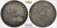1806 DRAPED BUST HALF DOLLAR >O-111A 6 OVER INVERTED 6< PCGS VF25 >FAST SHIPPING