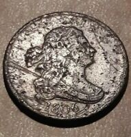 1806 SMALL 6, STEMLESS HALF CENT, LOW MINTAGE