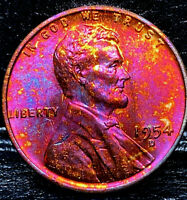 1954 D LINCOLN WHEAT CENT CENT-