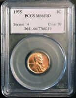 1935 PCGS MINT STATE 66RD LINCOLN CENT