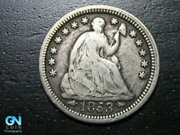 1853 P SEATED LIBERTY HALF DIME --  MAKE US AN OFFER  B9778
