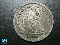 1839 P SEATED LIBERTY HALF DIME --  MAKE US AN OFFER  B9782