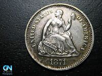 1871 S SEATED LIBERTY HALF DIME --  MAKE US AN OFFER  B9794