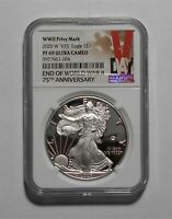 2020W END OF WORLD WAR II 75TH PROOF SILVER EAGLE V75  NGC PF 69