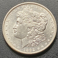 1892-P MORGAN SILVER DOLLAR  UNCIRCULATED  LUSTROUS BREAST FEATHERS
