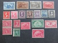 US STAMPS COLLECTION OF UNUSED NO GLUE HIGH VALUES