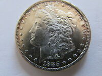 1885 CC MORGAN SILVER DOLLAR CARSON CITY MINT $1 COIN BETTER DATE CC COIN MS UNC