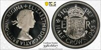 1953 GREAT BRITAIN 1/2 CROWN PCGS PR67  CAMEO