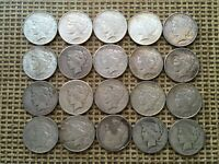 PEACE SILVER DOLLAR ROLL OF 20 COINS IN MIXED CONDITION 1922