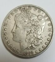 1883-P  MORGAN SILVER DOLLAR COIN 90SILVER BEAUTIFUL  SEE PHOTOS