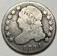 LOOKING 1814 CAPPED BUST SILVER DIME  DATE HARD TO FIND MAKE OFFER
